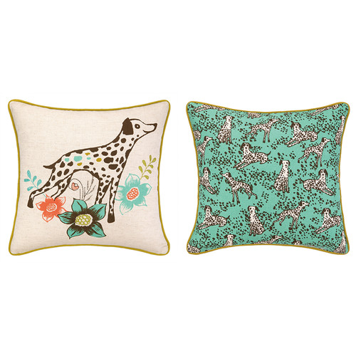 Sarah Watts Dalmatian Printed Reversible Throw Pillow