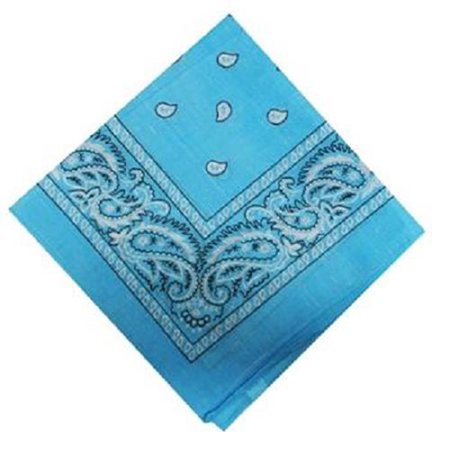 Bandana Printed Light Blue - 1 count only (Blue Bandanna)
