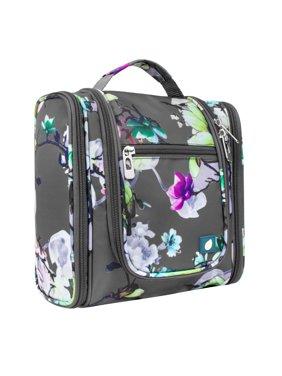 PAVILIA Hanging Travel Toiletry Bag for Women Men | Bathroom Toiletry Organizer Kit for Cosmetics Makeup | Dopp Kit Hygiene Bag for Shaving Shower