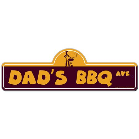 Dad's Bbq Street Sign 36