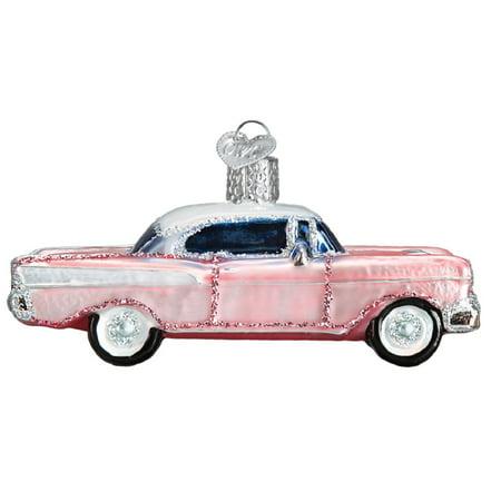 Old World Christmas Classic Car Glass Tree Ornament 46023 FREE BOX New Art Glass Christmas Tree Ornament