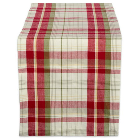 DII Orchard Plaid 100% Cotton Table Runner, Machine Washable for Holiday Gatherings, Dinner Parties, & Christmas (Orchard Plaid)