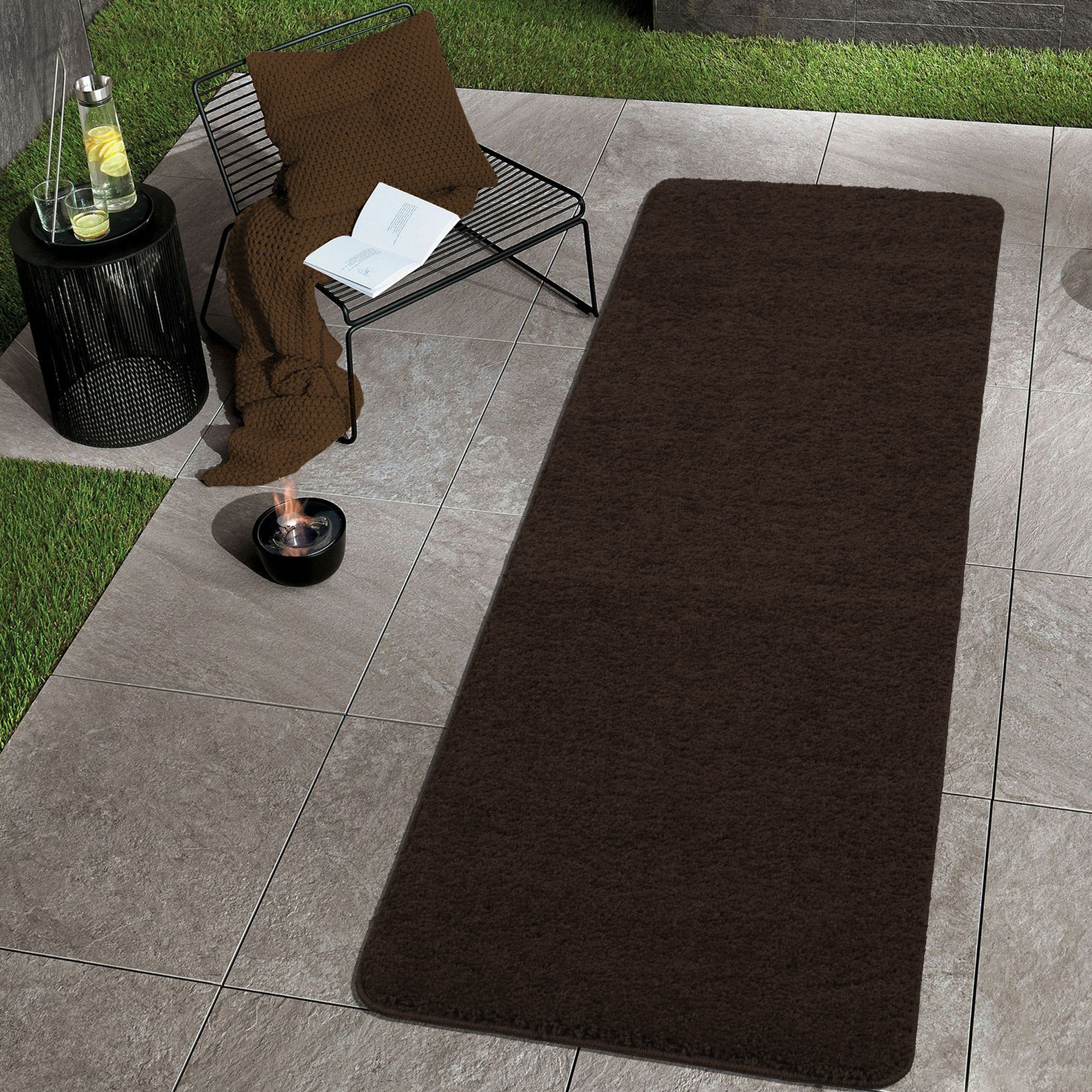 Sweet Home Stores Luxury Collection Soft Solid Non-Slip Bathroom Runner Rug and Mat