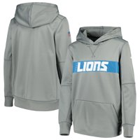 250c3364a53 Product Image Detroit Lions Nike Youth Team Performance Pullover Hoodie -  Gray