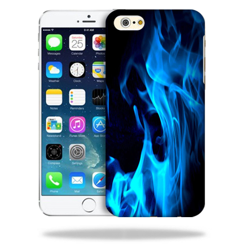 MightySkins Snap-On Protective Hard Case Cover for Apple iPhone 6/6S Plus Blue Flames