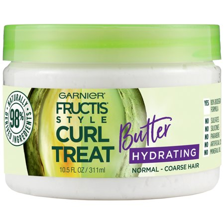 Garnier Fructis Style Curl Treat Butter Hydrating Leave-in Styler to Shape Curls, 10.5 oz.