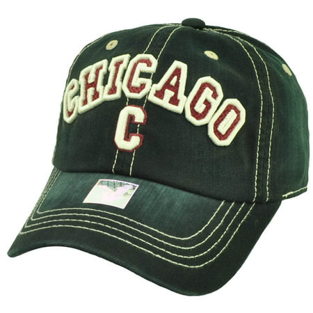 Chicago Chi Town Windy City Illinois Black Relaxed Hat Cap Adjustable USA Faded](Windy City Usa)