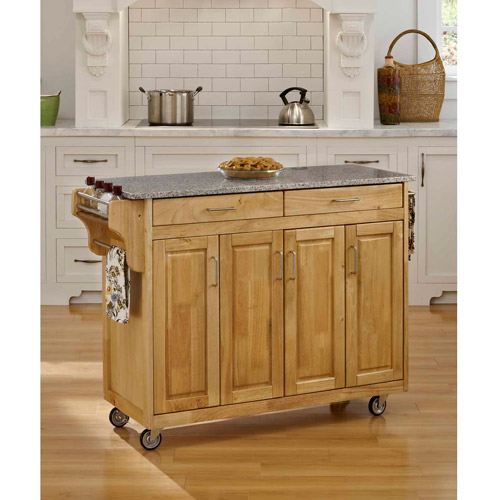 Home Styles Create-a-Cart, Natural with Granite Top