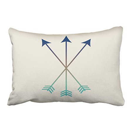 Blue Tribal Dragon (WinHome Popular Vintage Arrows Modern Tribal Watercolor Art Navy And Blue Polyester 20 x 30 Inch Rectangle Throw Pillow Covers With Hidden Zipper Home Sofa Cushion Decorative Pillowcases)