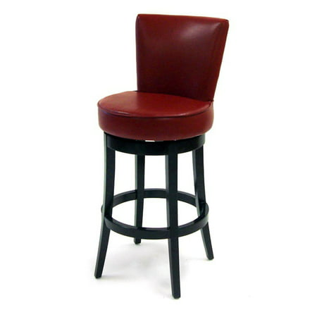 Boston Swivel Barstool, Red Bicast Leather,
