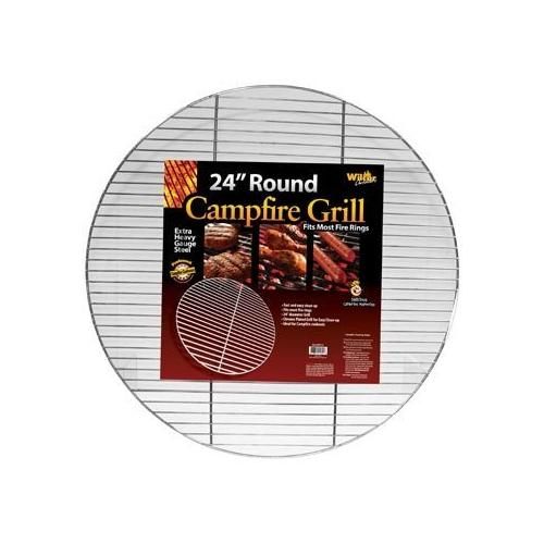Round Campfire Grill Grid for Fire Rings 24-inch