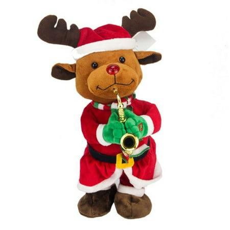 Home & Living Electric Santa Claus Christmas Hat Elk Snowman Music Stuffed Doll Plush Toy Christmas Gift Children's Gift Decor - Santa Claus Plush