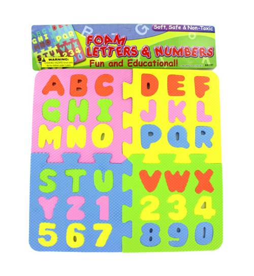 Letter and Number Puzzle - Set of 12