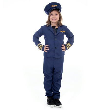 Boo! Inc. Airline Pilot Halloween Costume | Classic Air Captain Kids Unisex Outfit (Halloween Costume Pilot)