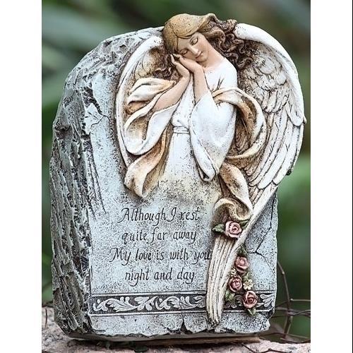 """9""""  Memorial Angel Outdoor Garden Stone"""