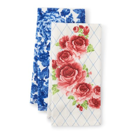 The Pioneer Woman Heritage Floral 2-Count Kitchen Towel Set