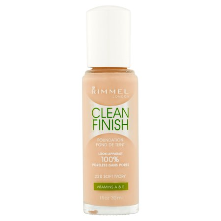 Sheer Finish Compact Foundation - Rimmel Clean Finish Foundation, 1 oz