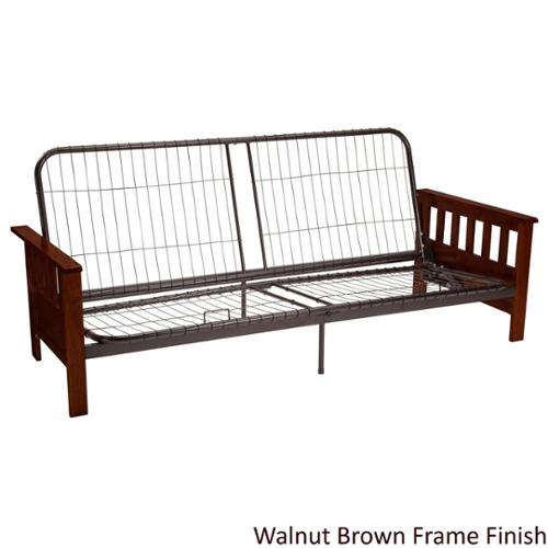 Provo Full or Queen-size Mission-style Futon Sofa Sleeper Frame Full-size Frame Medium Oak Finish