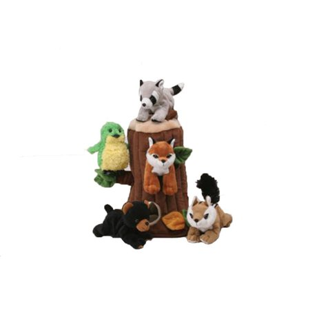 Plush Treehouse with Animals - Five (5) Stuffed Forest Animals ()