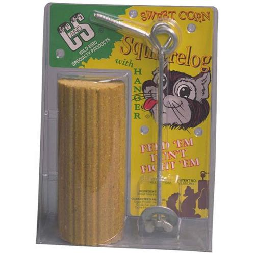 Sweet Corn Squirrel Log - C&S Products Sweet Corn Squirrel Log with hanger