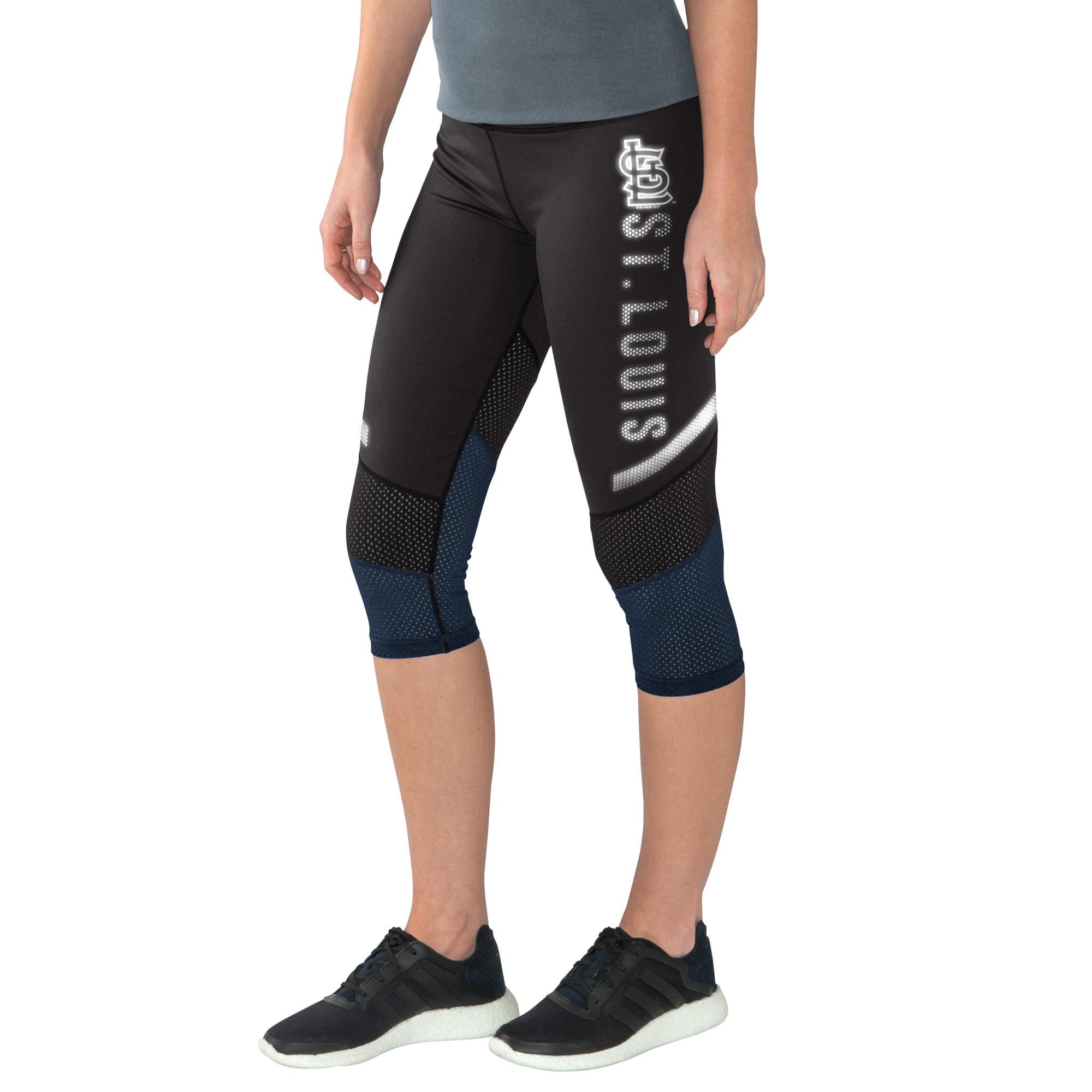 Women's G-III 4Her by Carl Banks Black/Navy St. Louis Cardinals Half Marathon Knee Capri Pants