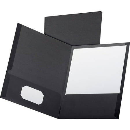 Oxford, OXF50506, Executive Twin Pocket Portfolios, 5 / Pack, Black