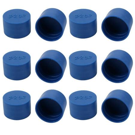 12pcs 26.7mm Inner Dia PE Plastic End Cap Bolt Thread Protector Tube Cover Blue - image 2 of 2