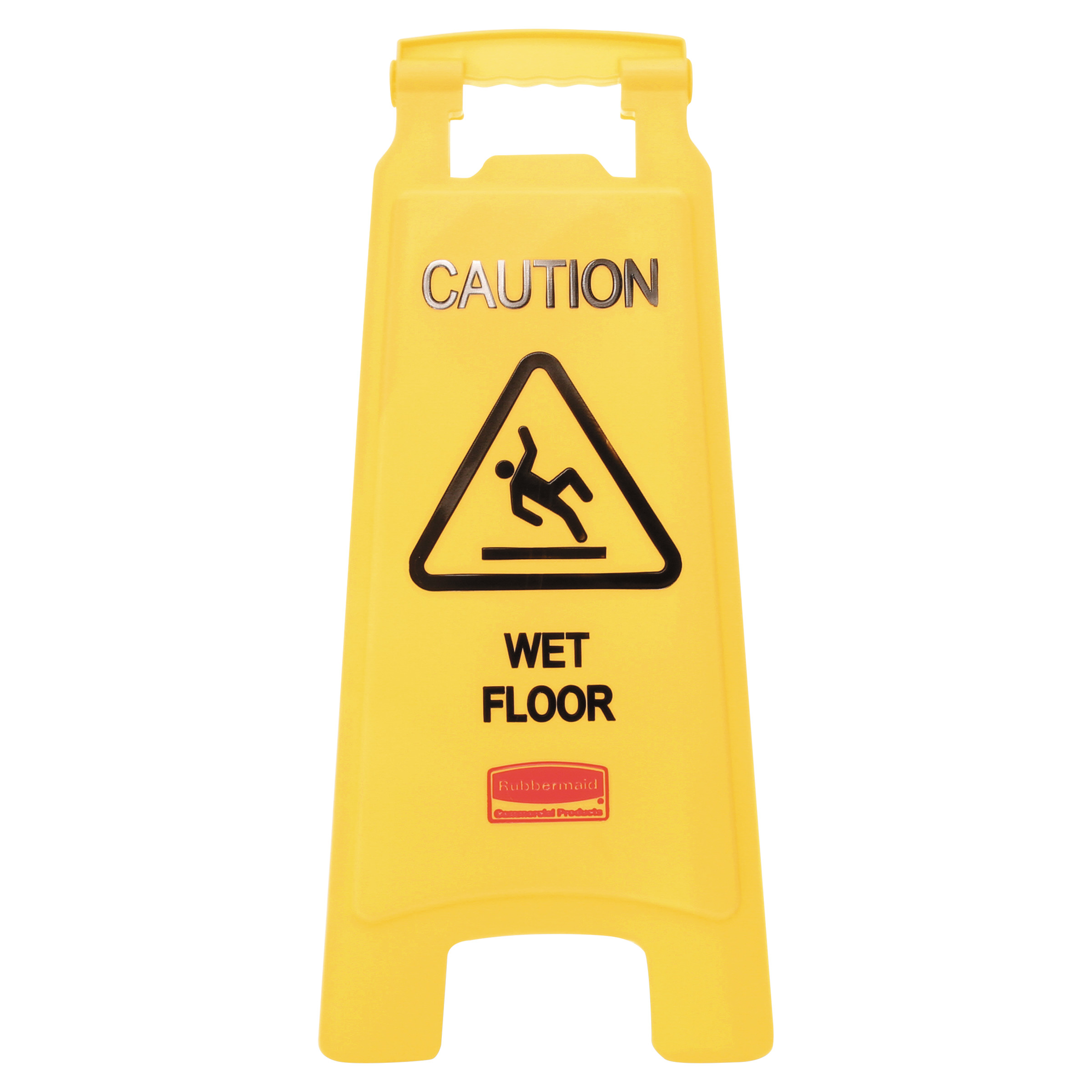 Rubbermaid Commercial Products FG611277YEL Floor Safety Sign,Caution Wet Floor Imprint Pack of 6 2-Sided Yellow