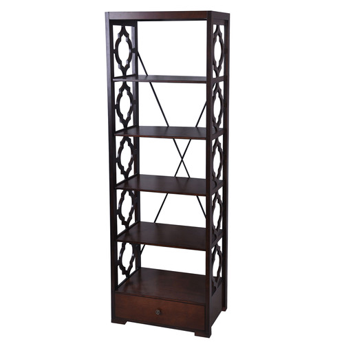 1-Drawer Etagere in Brown by Crestview Collection