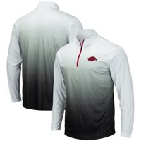 Arkansas Razorbacks Colosseum Magic Team Logo Quarter-Zip Jacket - Gray