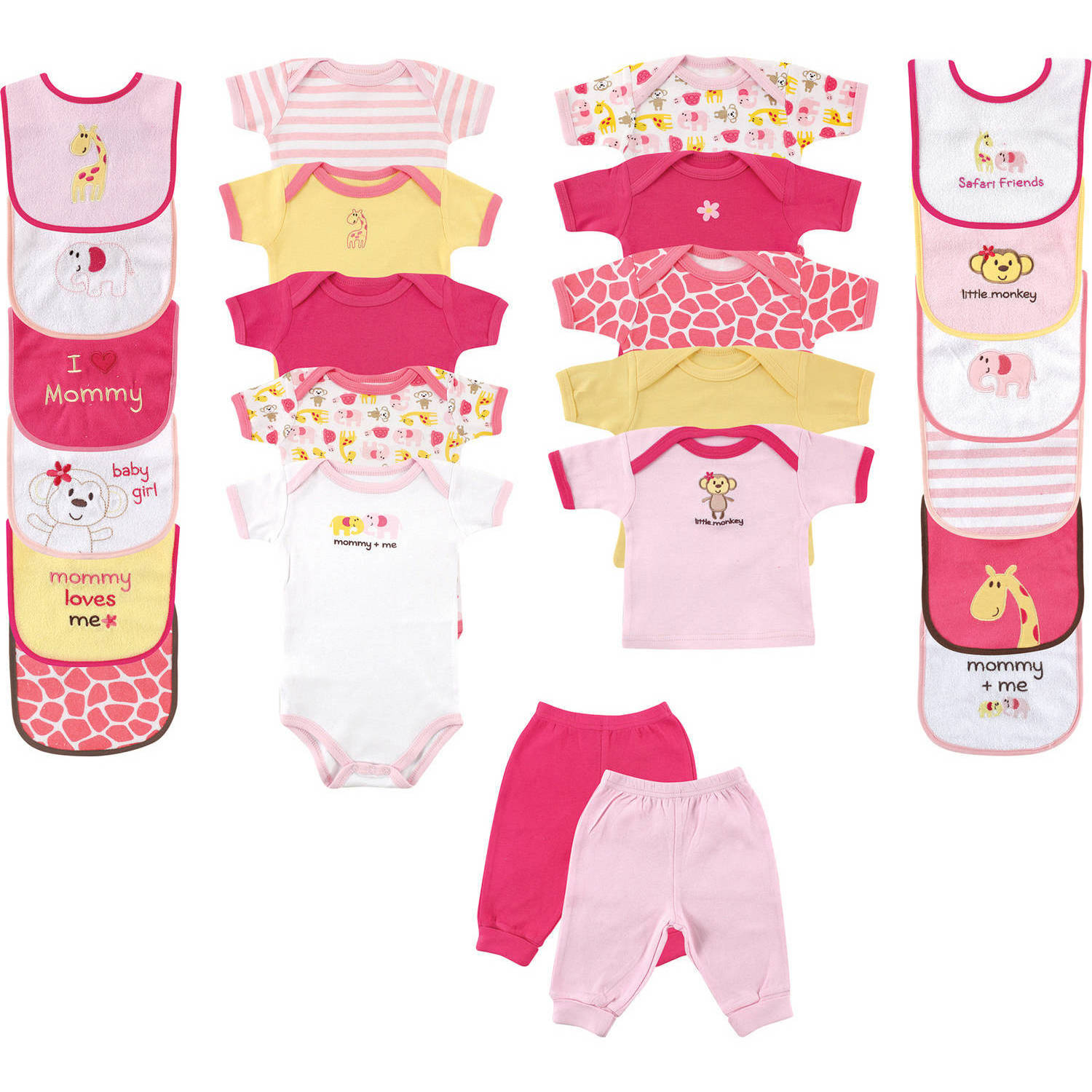 Newborn Baby Girl Deluxe Outfit Gift Set, 24pc
