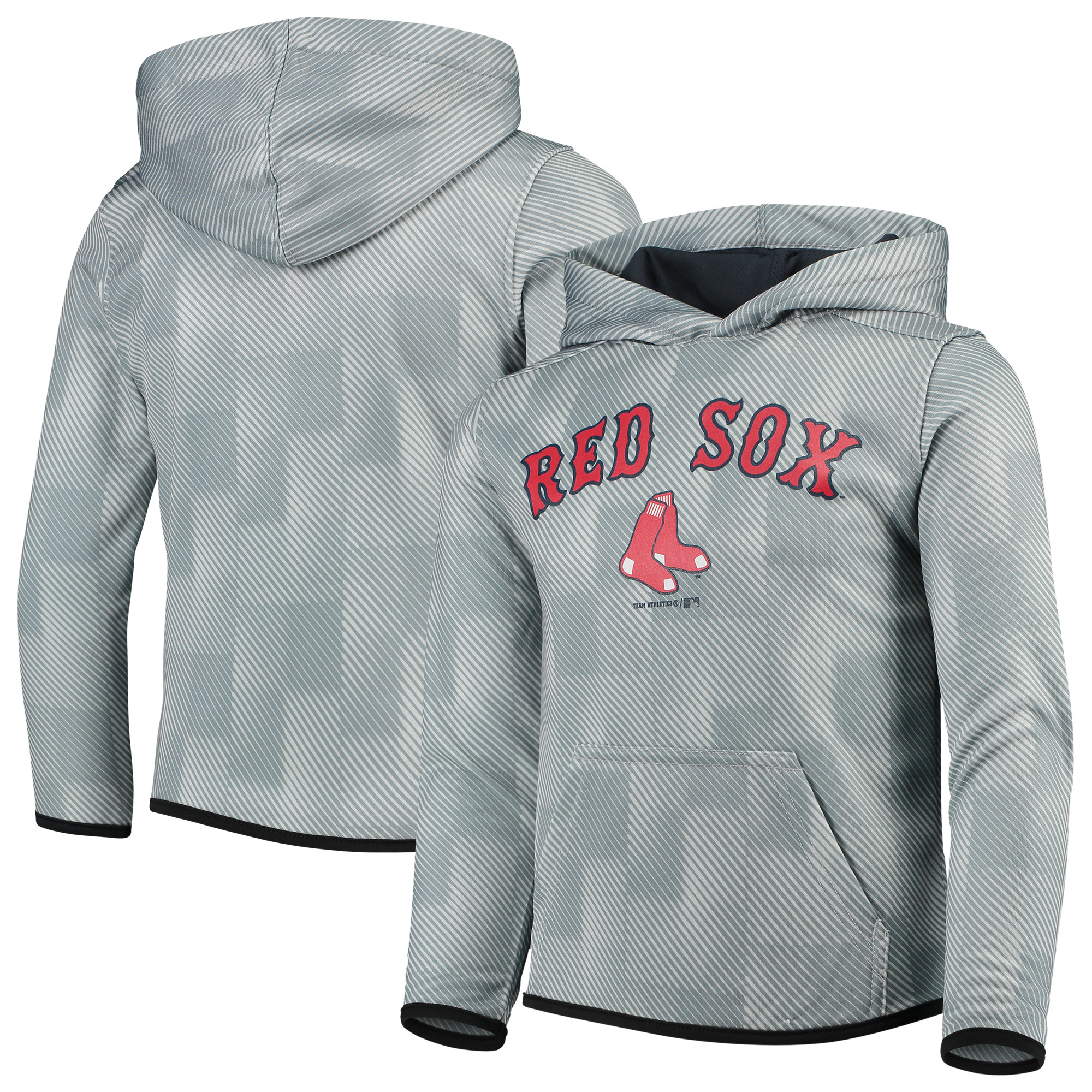 Boston Red Sox Youth Polyester Fleece Sweatshirt - Gray