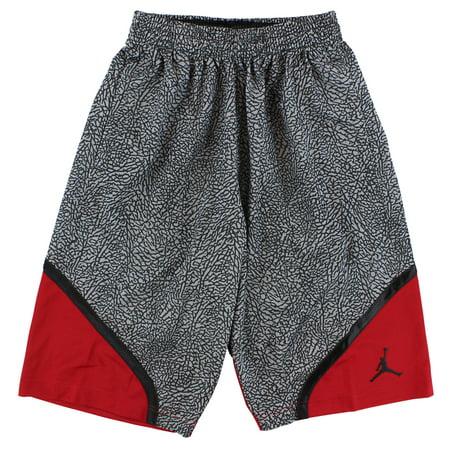 3bc4b5717177 Jordan Mens AJIII Elephant Print Basketball Shorts Light Grey ...
