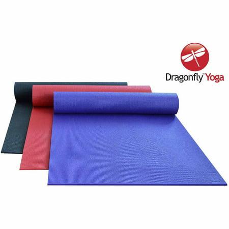 Dragonfly Studio Deluxe Sticky Yoga Mat 6mm Walmart Com
