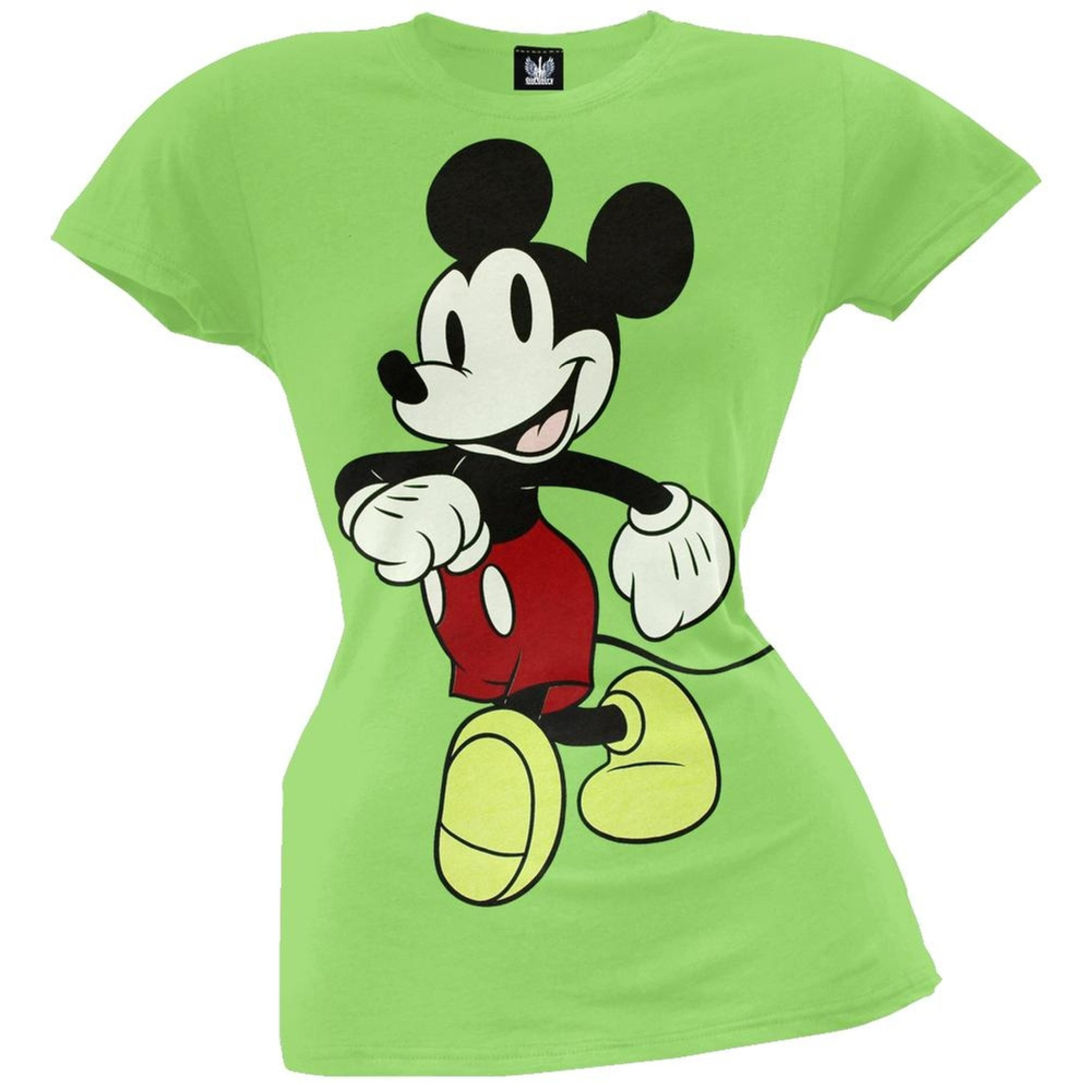 Mickey Mouse - Full Pose Juniors T-Shirt