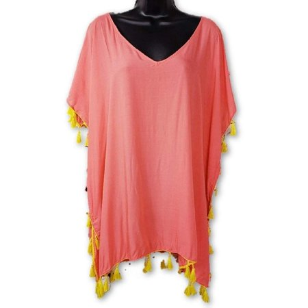 4c377b7203 Chelsea & Theodore Beach - C&T Beach Womens Size X-Large Beach Cover Up,  Coral Lily/Mandalay Lime - Walmart.com