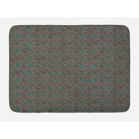 oriental bath mat abstract eastern culture inspirations. Black Bedroom Furniture Sets. Home Design Ideas