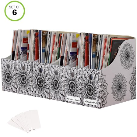 Evelots Magazine File Holder-Organizer-4