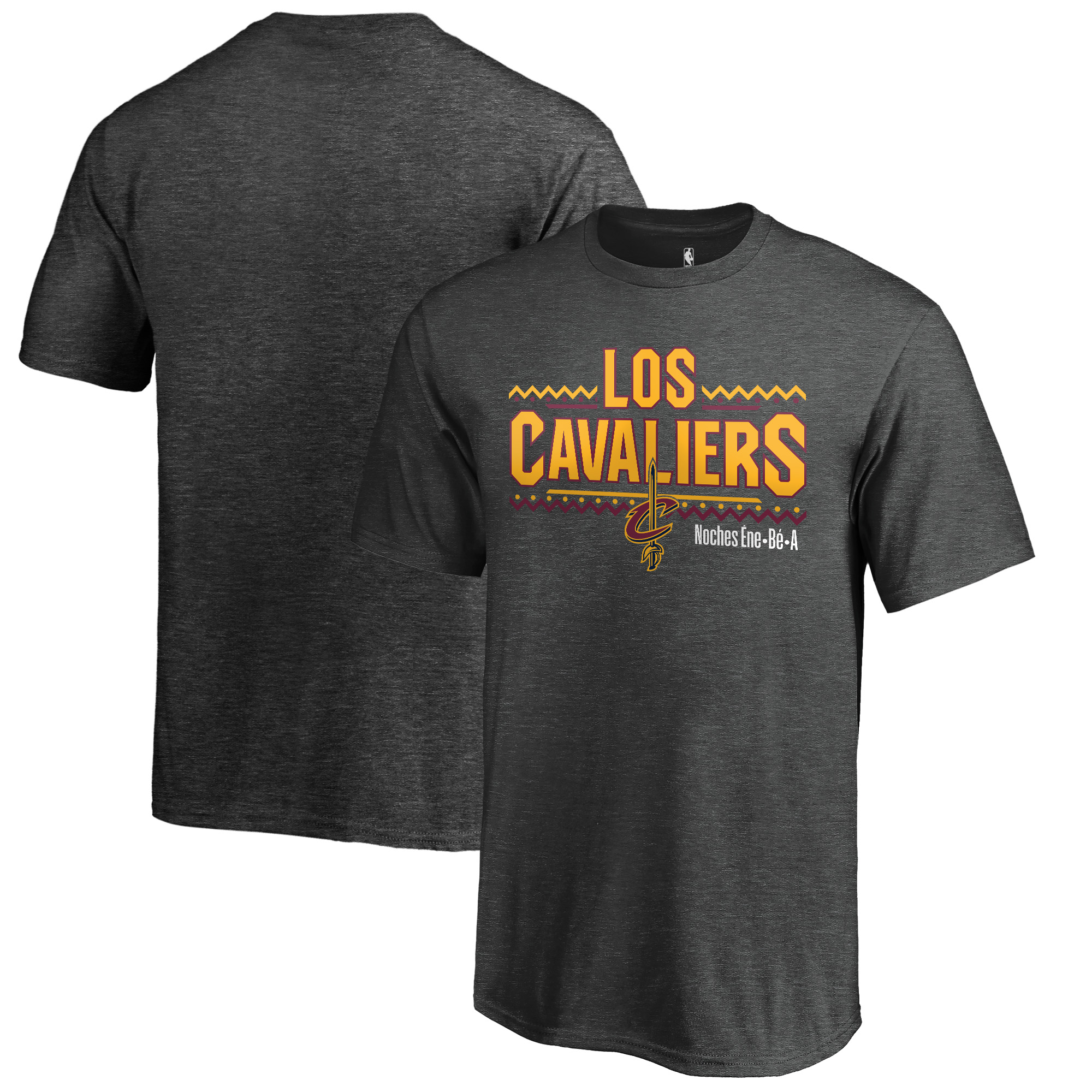 Cleveland Cavaliers Fanatics Branded Youth Noches Ene-Be-A T-Shirt - Heather Gray