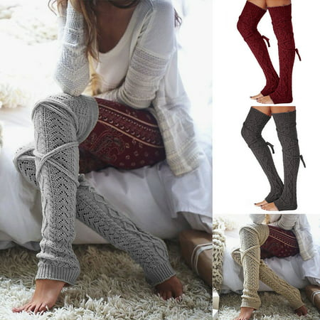 Women Crochet Knitted stocking Leg Warmers Boot Cover Lace Trim Legging Socks #215 - Leg Warmers 80s