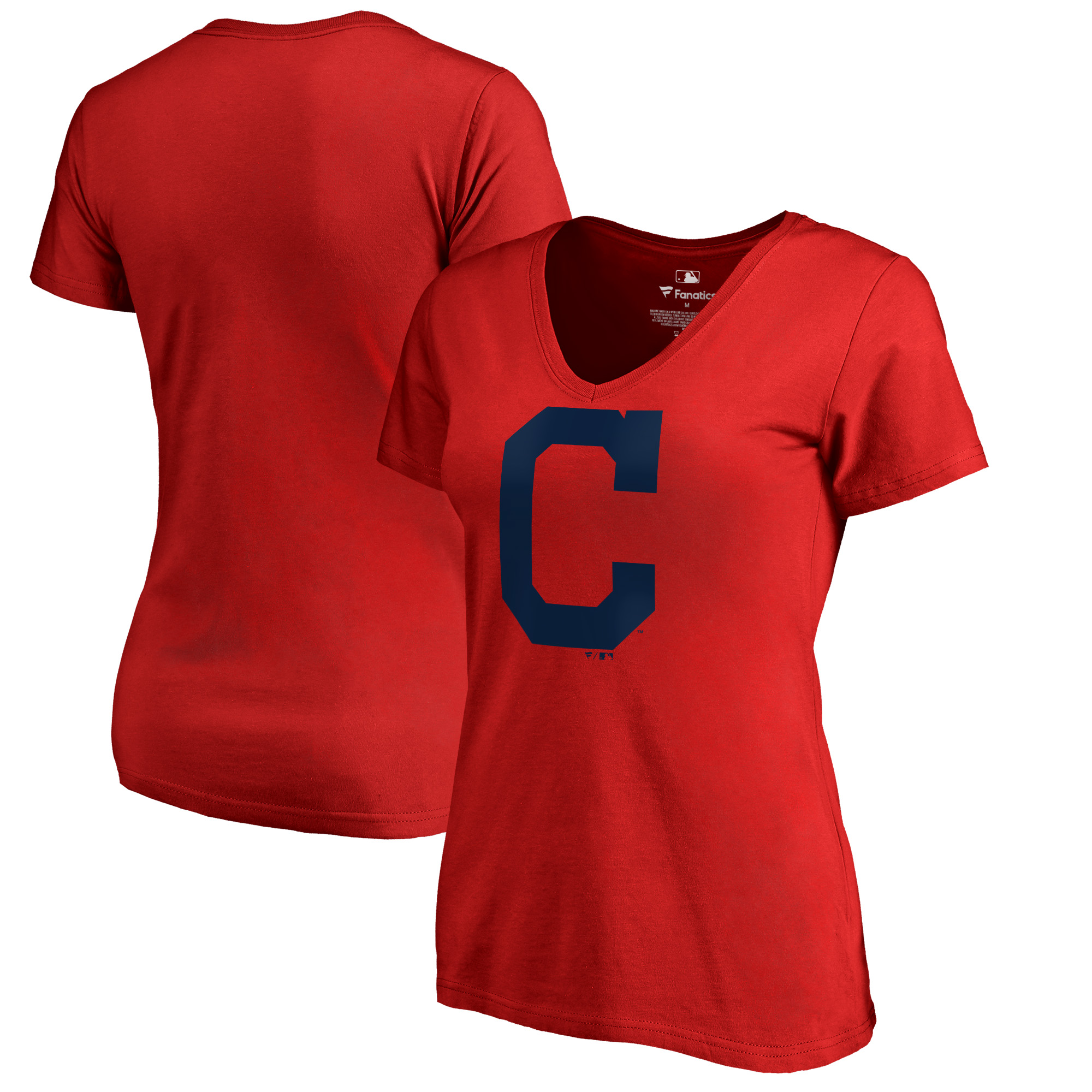 Cleveland Indians Women's Plus Sizes Primary Team Logo T-Shirt - Red