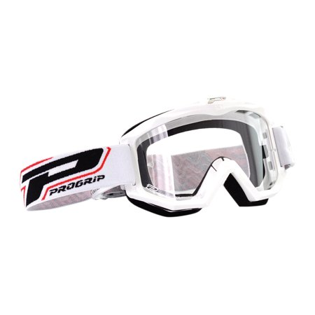 Pro Grip 3201 Raceline MX Goggles w/Clear Lens White