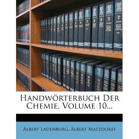 Handw Rterbuch Der Chemie  Volume 10