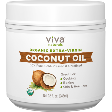 Viva Naturals Organic Extra Virgin Coconut Oil, 32 fl (Nutiva Organic Unrefined Extra Virgin Coconut Oil)