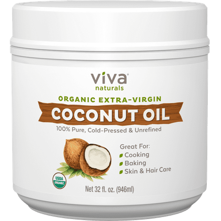 Viva Naturals Organic Extra Virgin Coconut Oil, 32 fl oz