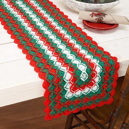 Herrschners Holiday Cheer Table Runner Crochet Yarn Kit