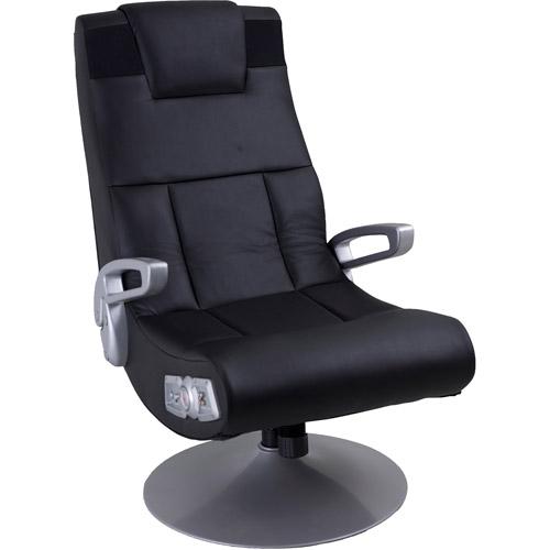 X Video Rocker Pedestal 2.1 Wireless Sound Gaming Chair, Black, 51274