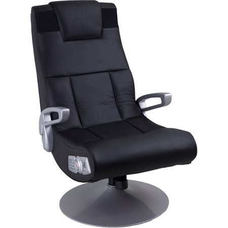 x video rocker pedestal 2 1 wireless sound gaming chair black 51274. Black Bedroom Furniture Sets. Home Design Ideas