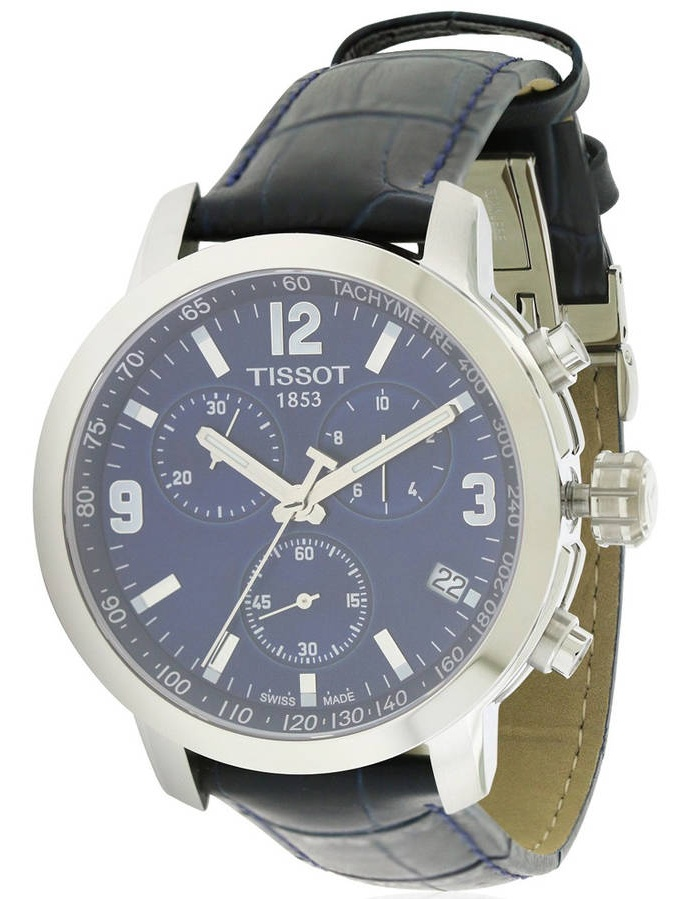 Tissot PRC 200 Leather Chronograph Mens Watch T0554171604700