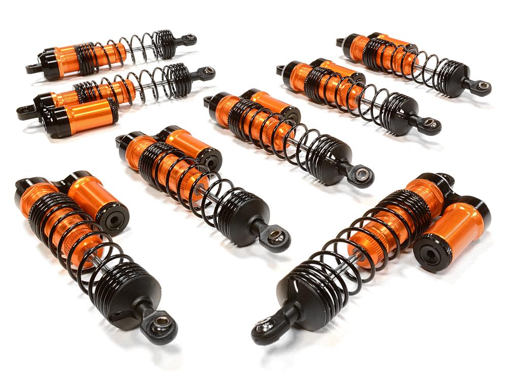 Integy RC Toy Model Hop-ups C26065ORANGE Billet Machined Piggyback Shock Set (8) for... by Integy